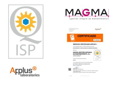 composicion logos sello de calidad Magma